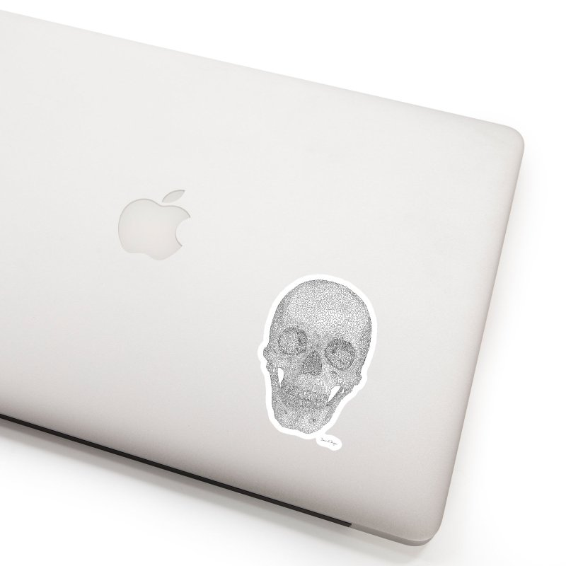 Skull - One Continuous Line Accessories Sticker by Daniel Dugan's Artist Shop