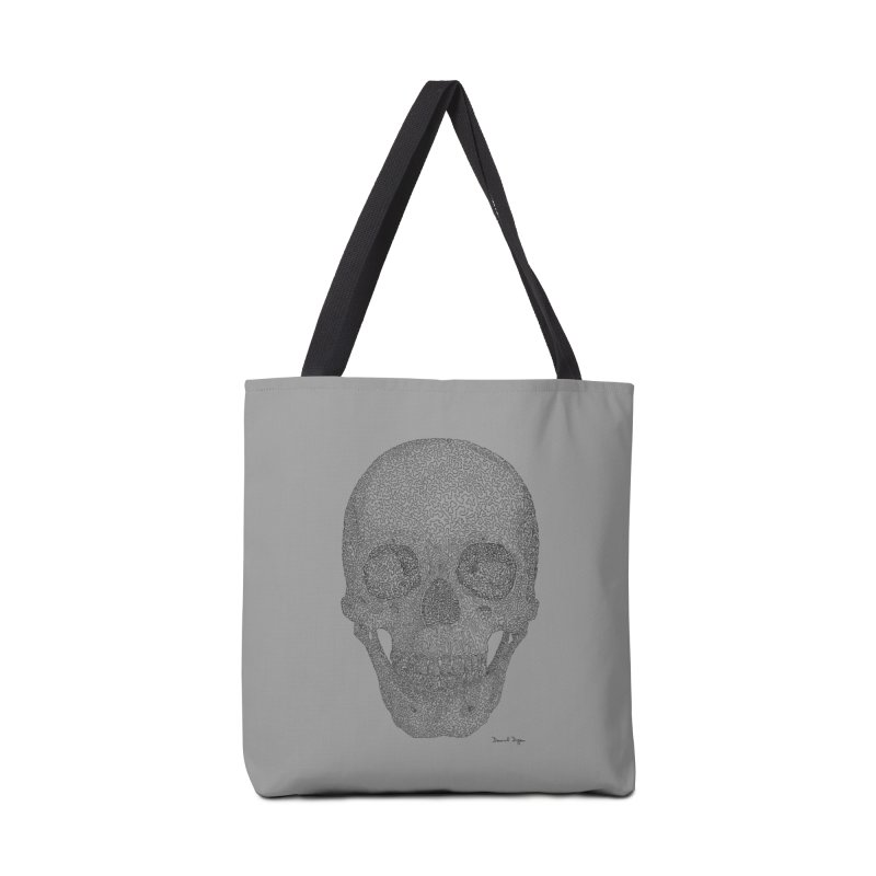 Skull (Black) Accessories Bag by Daniel Dugan's Artist Shop