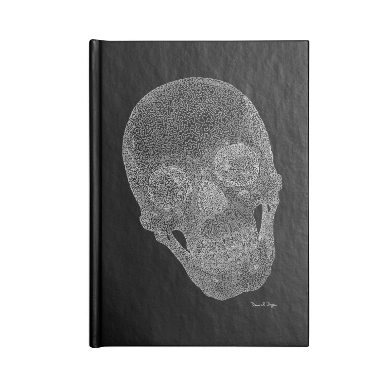 Skull Cocked (For Dark Backgrounds Accessories Notebook by Daniel Dugan's Artist Shop