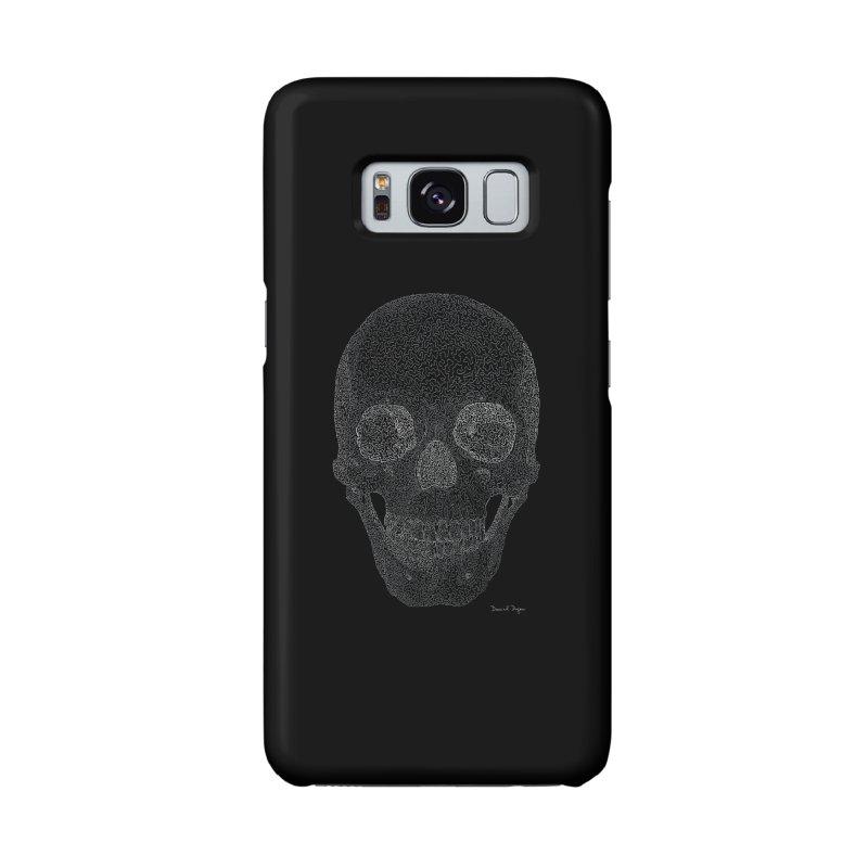 Skull (White) - One Continuous Line Accessories Phone Case by Daniel Dugan's Artist Shop