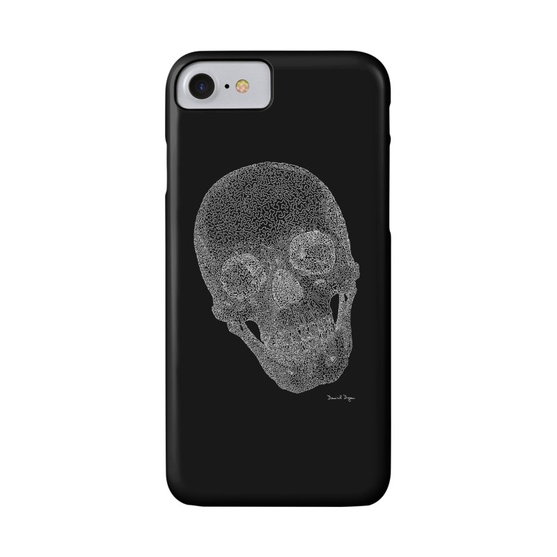 Skull Cocked (For Dark Backgrounds Accessories Phone Case by Daniel Dugan's Artist Shop