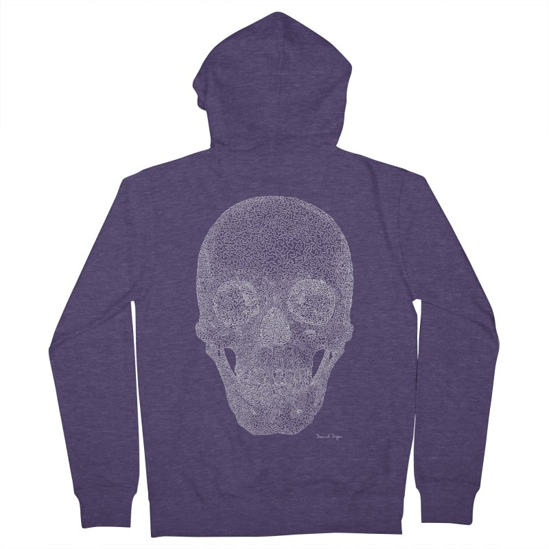 Skull (For Dark Backgrounds) Men's Zip-Up Hoody by Daniel Dugan's Artist Shop