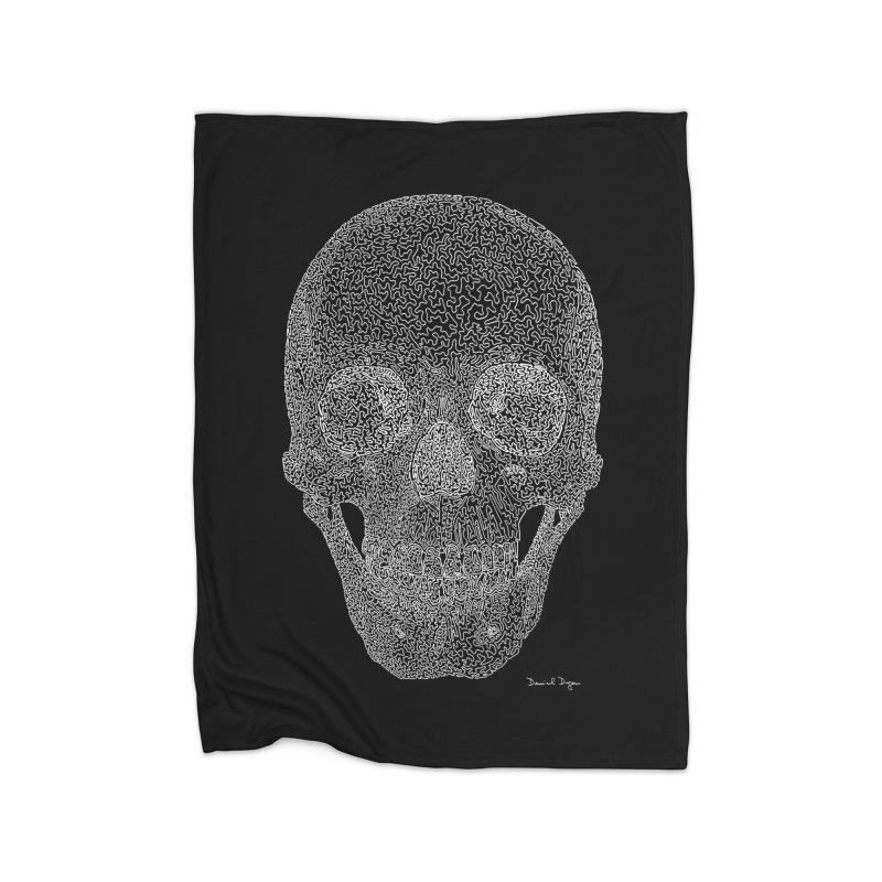 Skull (For Dark Backgrounds) Home Blanket by Daniel Dugan's Artist Shop