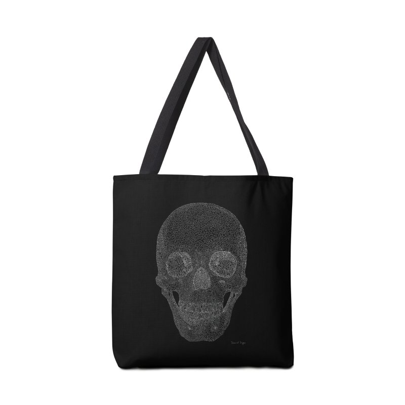 Skull (White) - One Continuous Line Accessories Bag by Daniel Dugan's Artist Shop