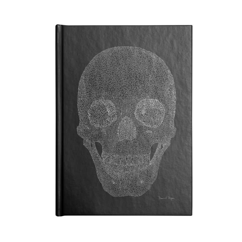 Skull (White) - One Continuous Line Accessories Notebook by Daniel Dugan's Artist Shop