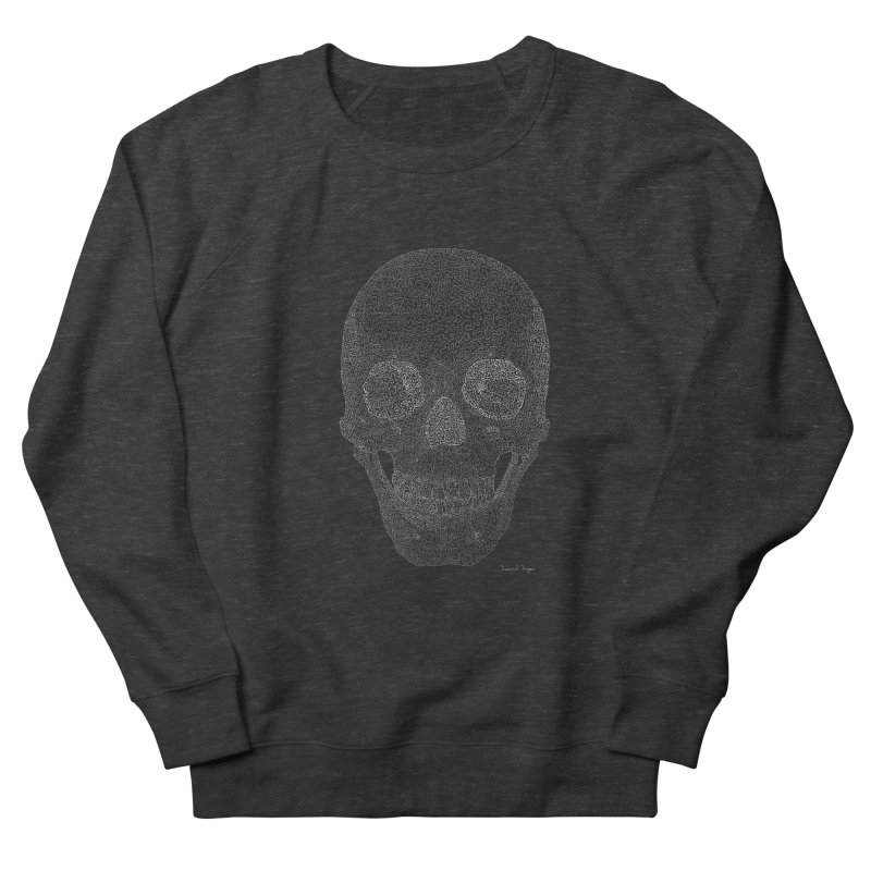 Skull (White) - One Continuous Line Women's Sweatshirt by Daniel Dugan's Artist Shop
