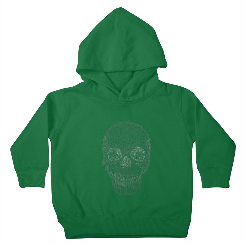 Skull (White) - One Continuous Line Kids Toddler Pullover Hoody by Daniel Dugan's Artist Shop