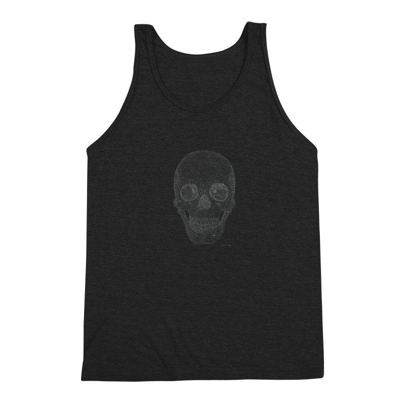 Skull (White) - One Continuous Line Men's Tank by Daniel Dugan's Artist Shop
