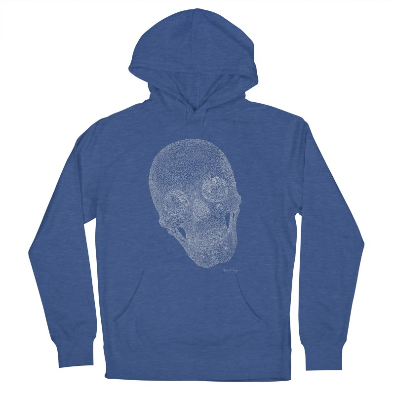 Skull (White) - One Continuous Line Women's Pullover Hoody by Daniel Dugan's Artist Shop