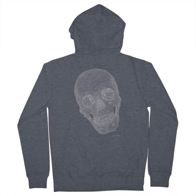 Skull Cocked (For Dark Backgrounds Women's Zip-Up Hoody by Daniel Dugan's Artist Shop
