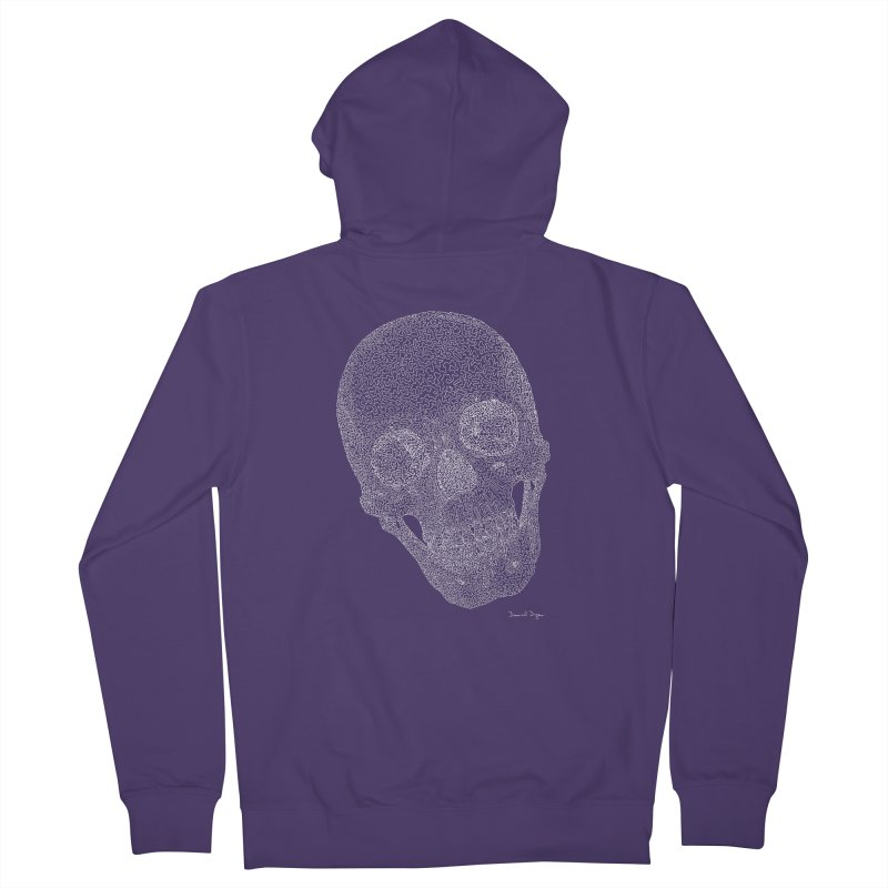 Skull Cocked (For Dark Backgrounds Women's Zip-Up Hoody by Daniel Dugan's Artist Shop
