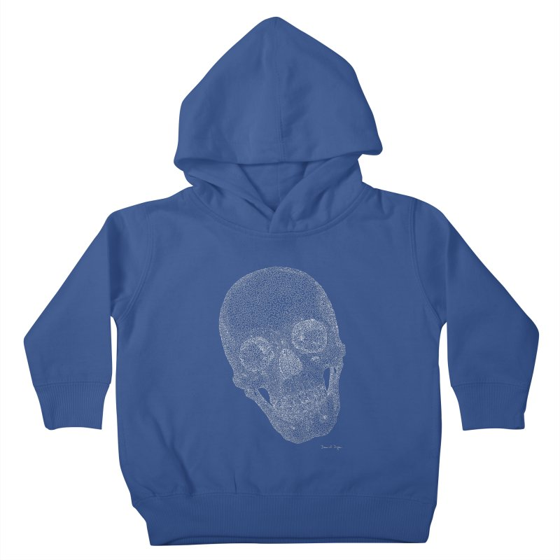 Skull Cocked (For Dark Backgrounds Kids Toddler Pullover Hoody by Daniel Dugan's Artist Shop