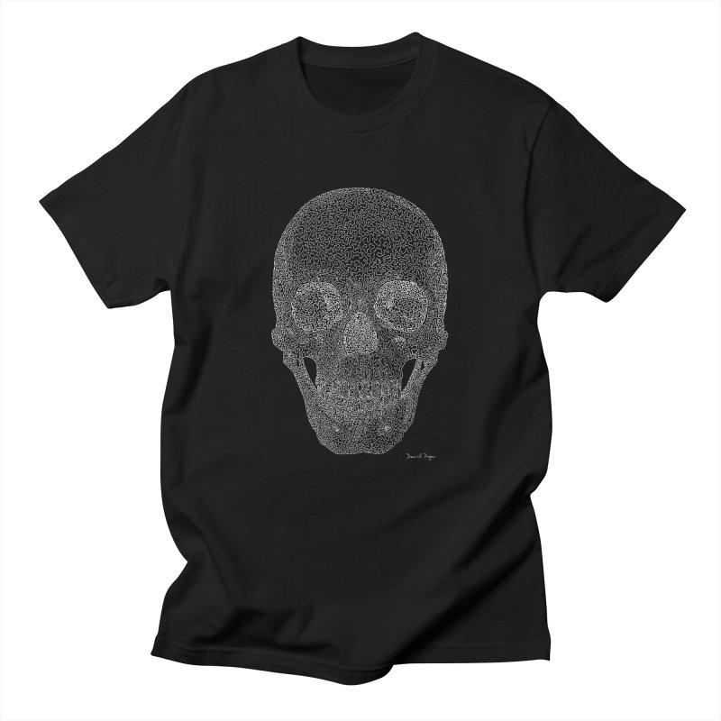 Skull (For Dark Backgrounds) Men's T-Shirt by Daniel Dugan's Artist Shop