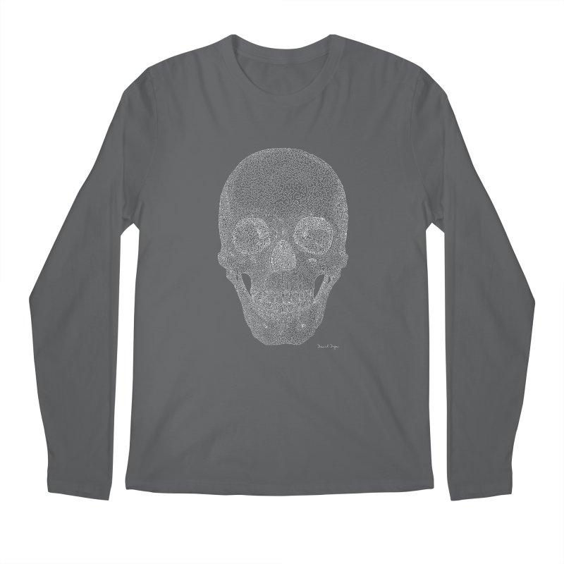 Skull (For Dark Backgrounds) Men's Longsleeve T-Shirt by Daniel Dugan's Artist Shop