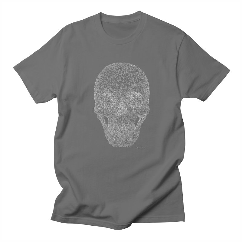 Skull (For Dark Backgrounds) Men's T-Shirt by Daniel Dugan's Artist Shop