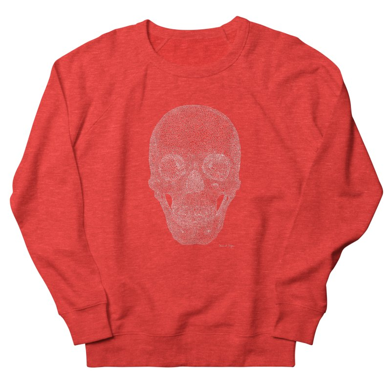 Skull (For Dark Backgrounds) Men's Sweatshirt by Daniel Dugan's Artist Shop