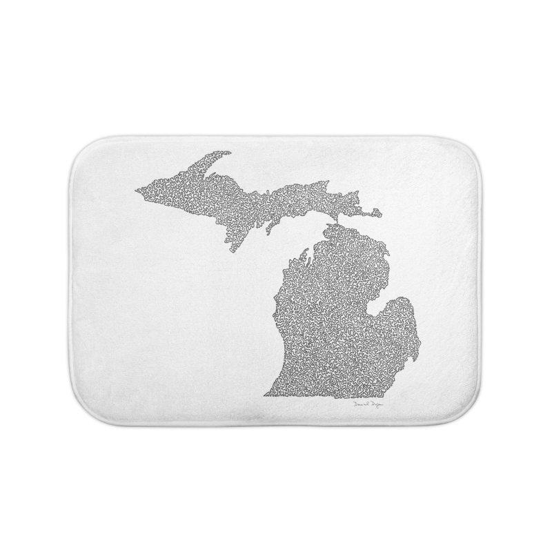 Michigan - One Continuous Line Home Bath Mat by Daniel Dugan's Artist Shop