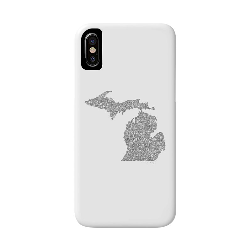 Michigan - One Continuous Line Accessories Phone Case by Daniel Dugan's Artist Shop