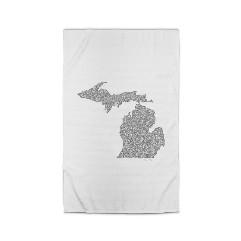 Michigan - One Continuous Line Home Rug by Daniel Dugan's Artist Shop