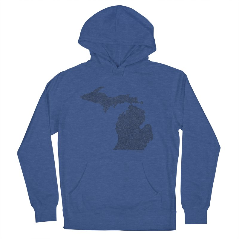 Michigan - One Continuous Line Women's Pullover Hoody by Daniel Dugan's Artist Shop