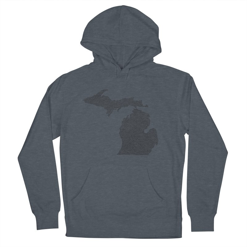 Michigan - One Continuous Line Men's Pullover Hoody by Daniel Dugan's Artist Shop