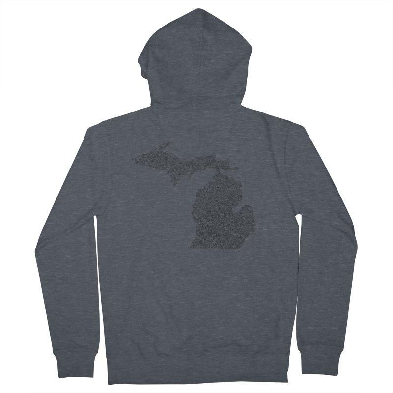 Michigan - One Continuous Line Women's Zip-Up Hoody by Daniel Dugan's Artist Shop