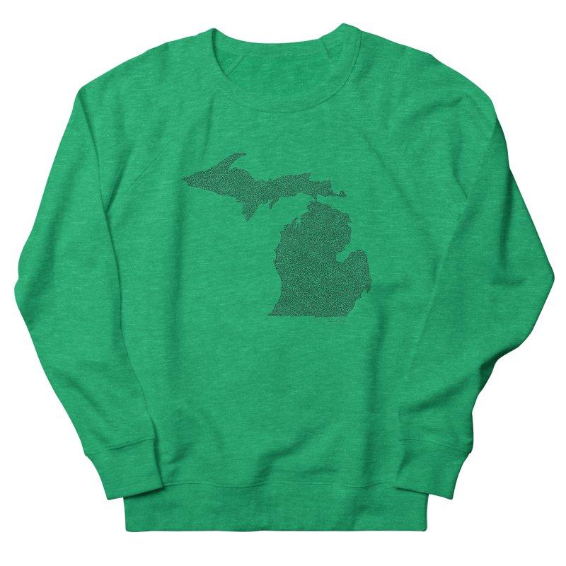 Michigan - One Continuous Line Women's Sweatshirt by Daniel Dugan's Artist Shop