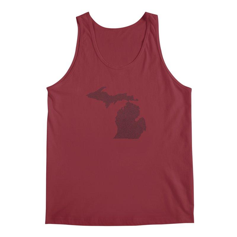 Michigan - One Continuous Line Men's Tank by Daniel Dugan's Artist Shop