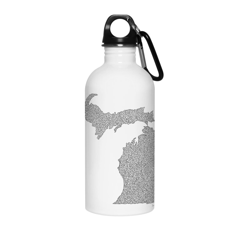 Michigan - One Continuous Line Accessories Water Bottle by Daniel Dugan's Artist Shop
