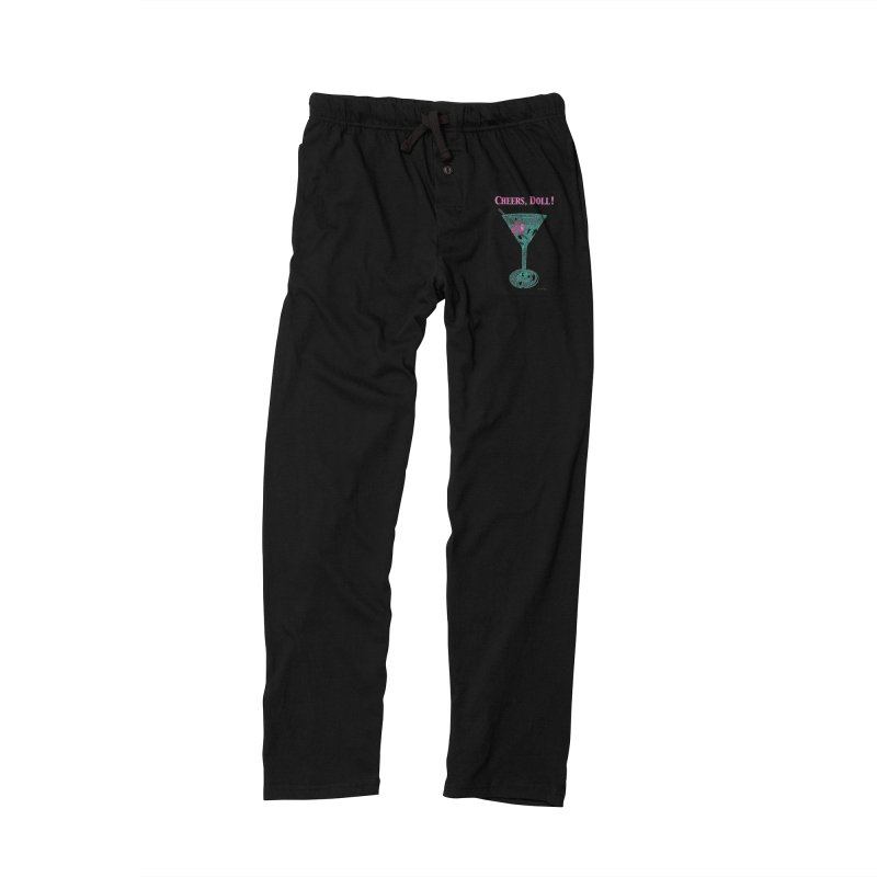 Cheers, Doll! Martini - One Continuous Line Men's Lounge Pants by Daniel Dugan's Artist Shop