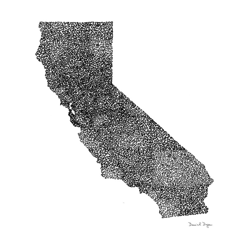 California - One Continuous Line by Daniel Dugan's Artist Shop