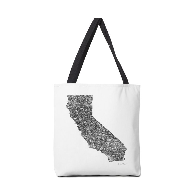 California - One Continuous Line Accessories Bag by Daniel Dugan's Artist Shop