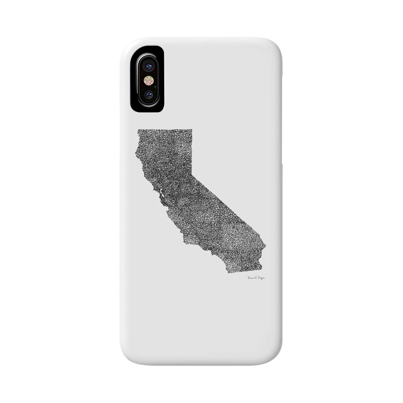 California - One Continuous Line Accessories Phone Case by Daniel Dugan's Artist Shop