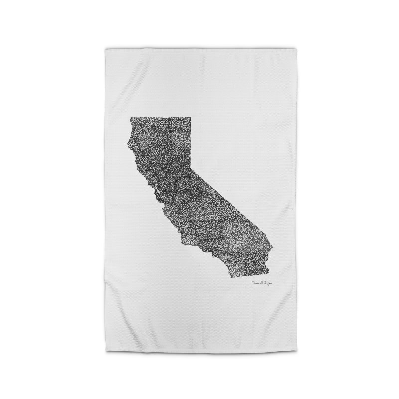California - One Continuous Line Home Rug by Daniel Dugan's Artist Shop