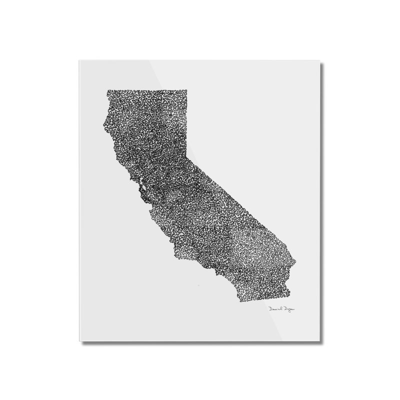 California - One Continuous Line Home Mounted Acrylic Print by Daniel Dugan's Artist Shop