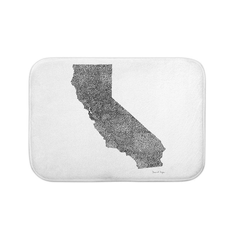 California - One Continuous Line Home Bath Mat by Daniel Dugan's Artist Shop