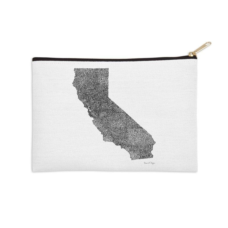 California - One Continuous Line Accessories Zip Pouch by Daniel Dugan's Artist Shop