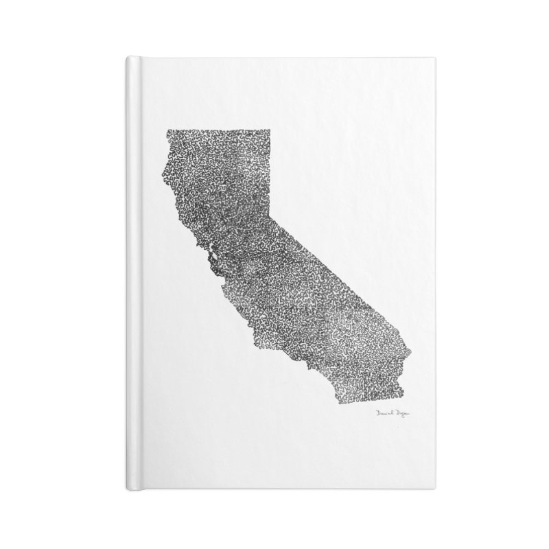 California - One Continuous Line Accessories Notebook by Daniel Dugan's Artist Shop