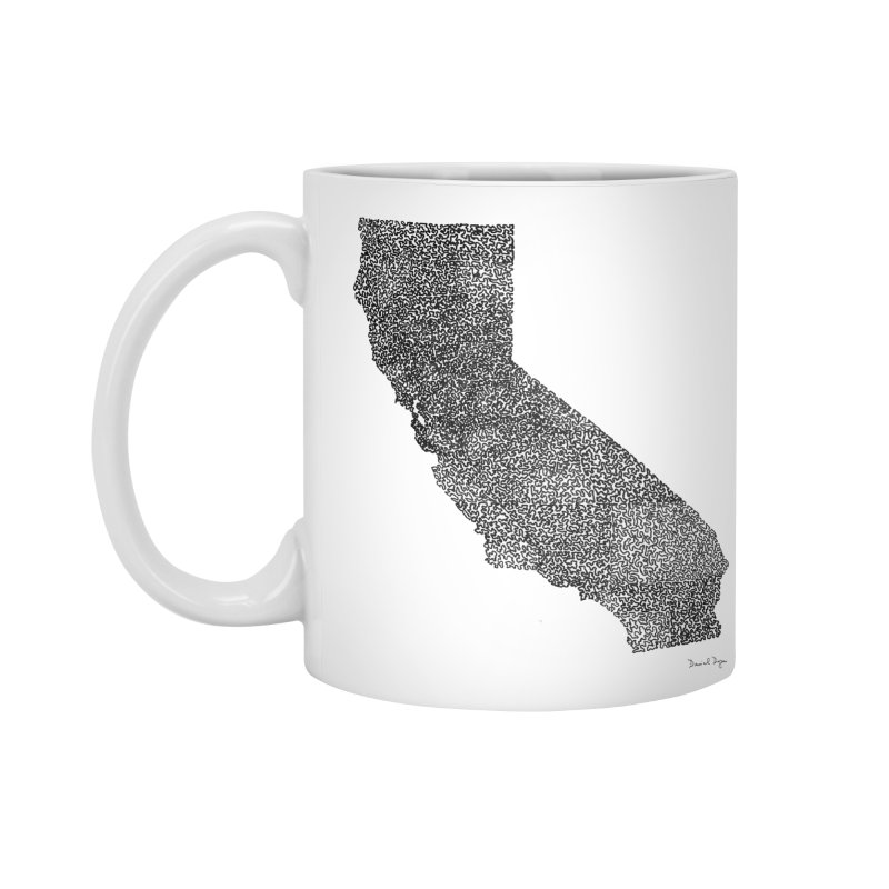 California - One Continuous Line Accessories Mug by Daniel Dugan's Artist Shop