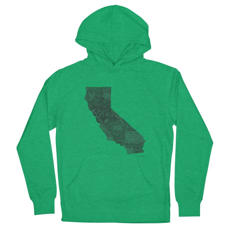 California - One Continuous Line Women's Pullover Hoody by Daniel Dugan's Artist Shop