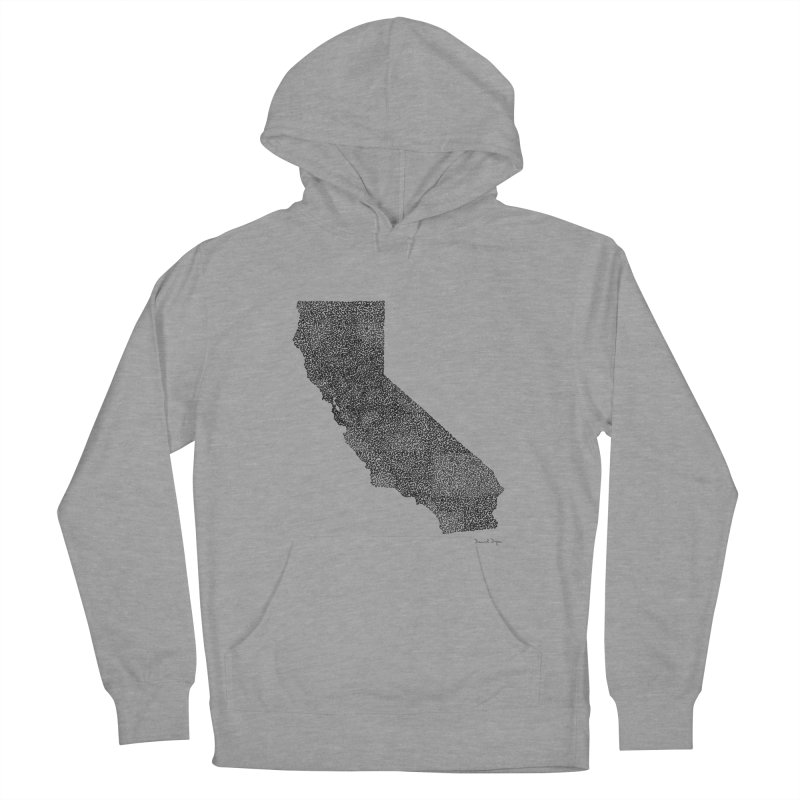 California - One Continuous Line Women's French Terry Pullover Hoody by Daniel Dugan's Artist Shop