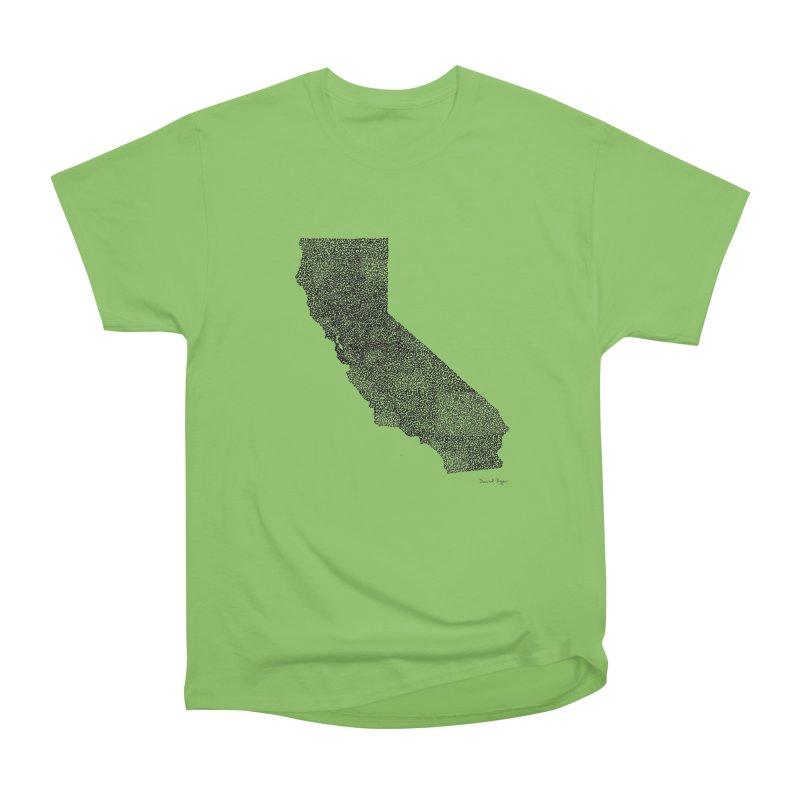 California - One Continuous Line Women's Heavyweight Unisex T-Shirt by Daniel Dugan's Artist Shop