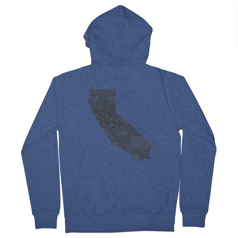 California - One Continuous Line Women's Zip-Up Hoody by Daniel Dugan's Artist Shop