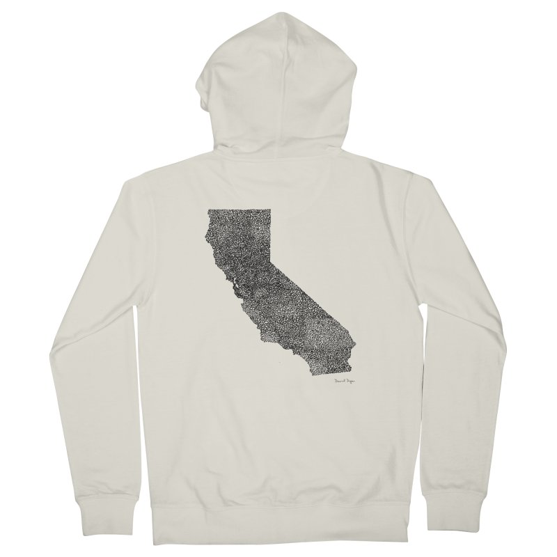 California - One Continuous Line Women's Zip-Up Hoody by Daniel Dugan's Artist Shop