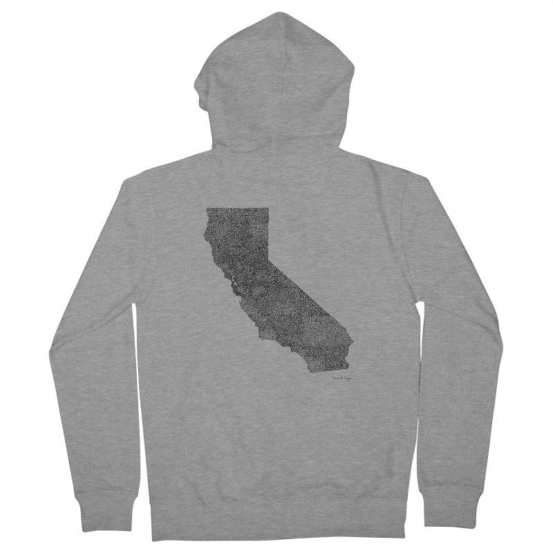 California - One Continuous Line Men's Zip-Up Hoody by Daniel Dugan's Artist Shop