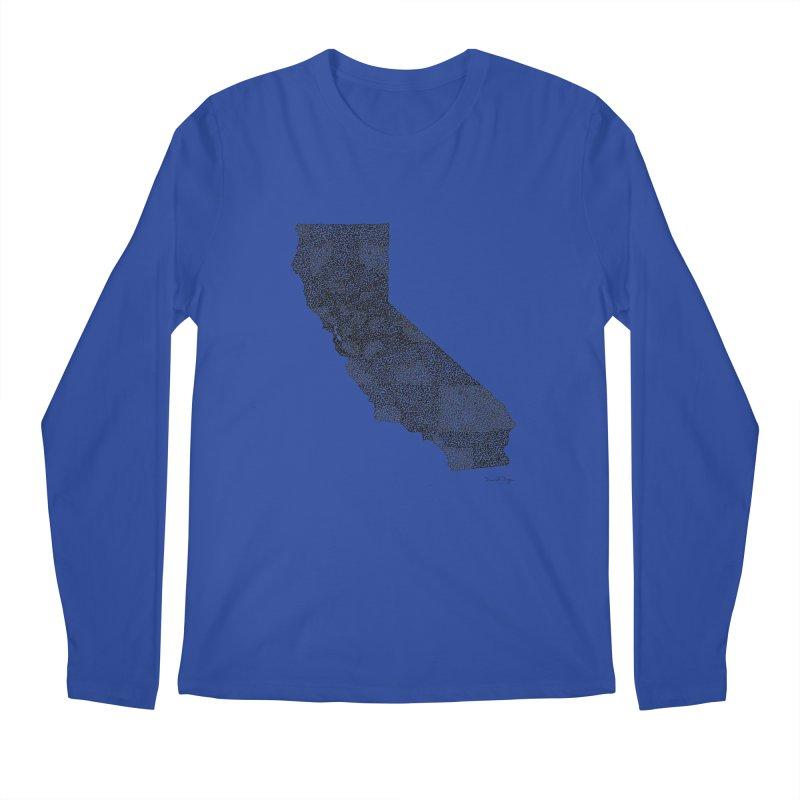 California - One Continuous Line Men's Longsleeve T-Shirt by Daniel Dugan's Artist Shop
