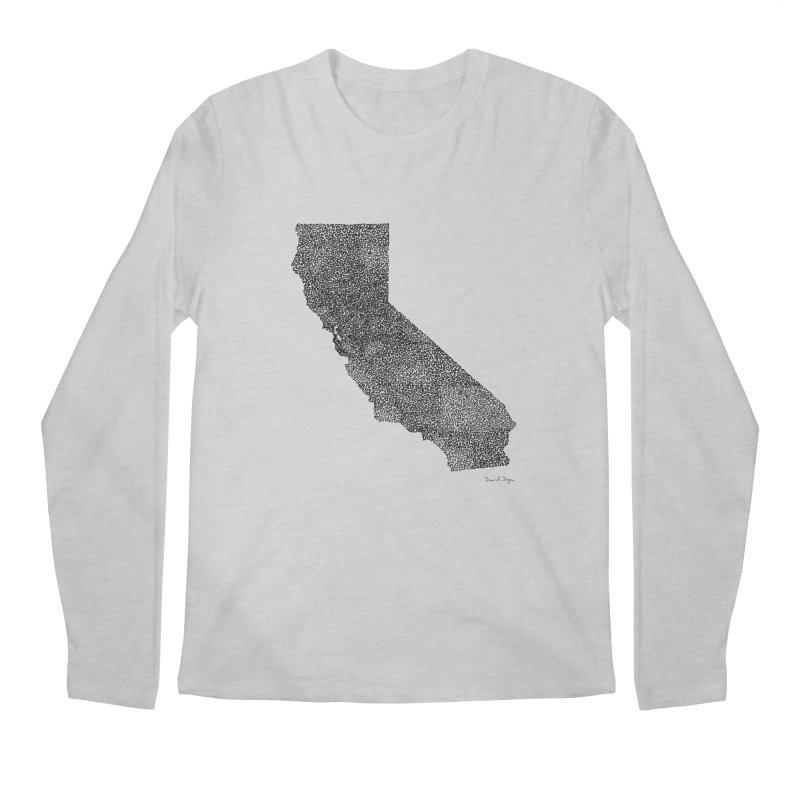 California - One Continuous Line Men's Regular Longsleeve T-Shirt by Daniel Dugan's Artist Shop