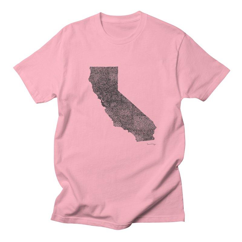 California - One Continuous Line Men's T-Shirt by Daniel Dugan's Artist Shop