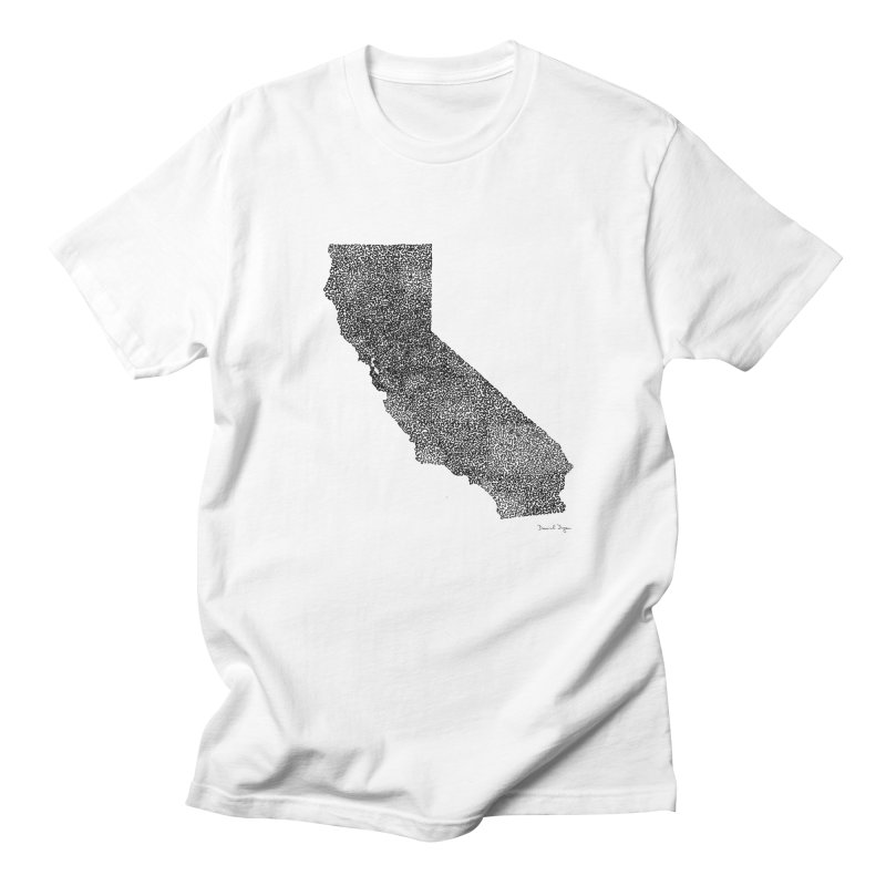 California - One Continuous Line Men's Regular T-Shirt by Daniel Dugan's Artist Shop