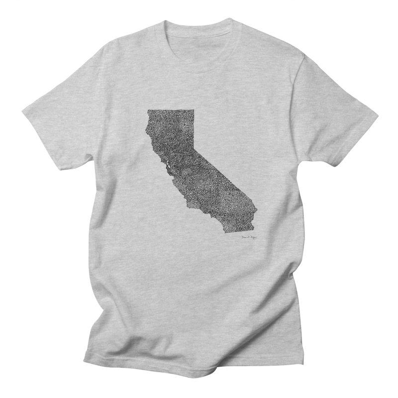 California - One Continuous Line Women's Regular Unisex T-Shirt by Daniel Dugan's Artist Shop
